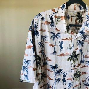 MODA CAMPIA Classic Style Hawaiian Shirt XXL